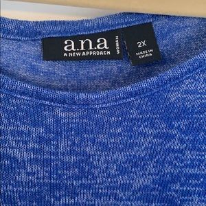 a.n.a Tops - A.N.A. (JCP) Shark Bite 3/4 Sleeve Tunic - 2X